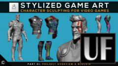 Skillshare - Stylized Game Art: Character Sculpting for Video Games | Part 01: Project Overview & Blockin - Zbrush