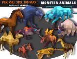Animals Monster Cartoon Collection - Animated - Unity Asset