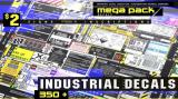 Artstation - INDUSTRIAL DECALS 350 MEGA PACK - Unity Asset