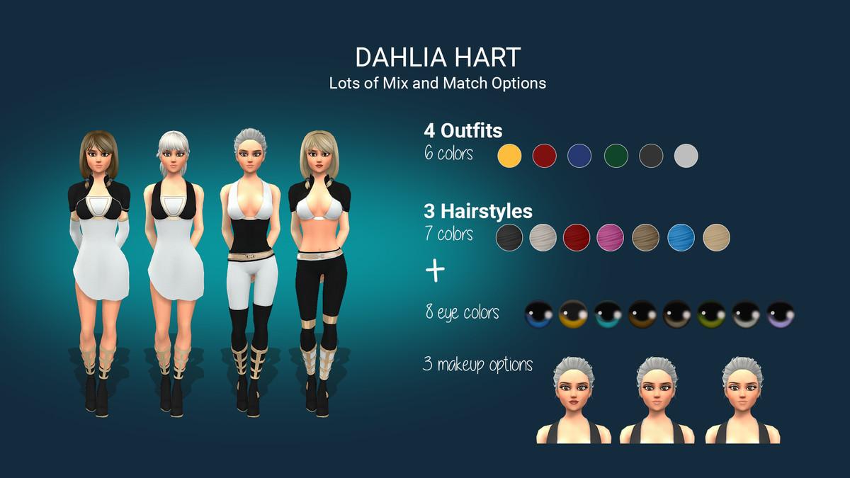 Dahlia Hart: Stylized Sci-Fi Character