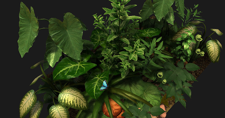 Green Stash - Mesh Plants