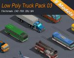 Low Poly Truck Pack 03 - Unity Asset