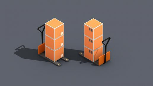 Low Poly Warehouse Logistics Isometric