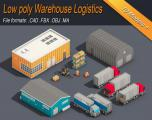 Low Poly Warehouse Logistics Isometric - Unity Asset