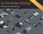 Low Poly Wireless Technology Isometric - Unity Asset