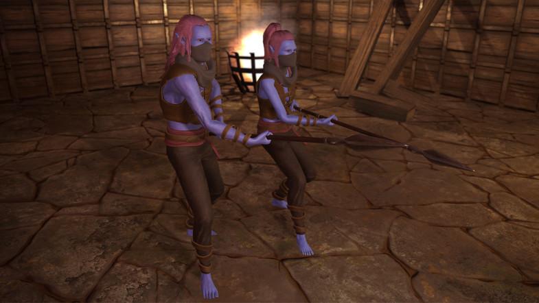 Male / Female Elf Fantasy RPG Character Pack PBR (Elves)