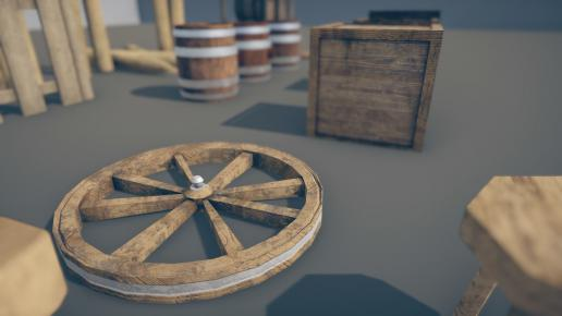Medieval Props Mega Pack Low poly 3D model