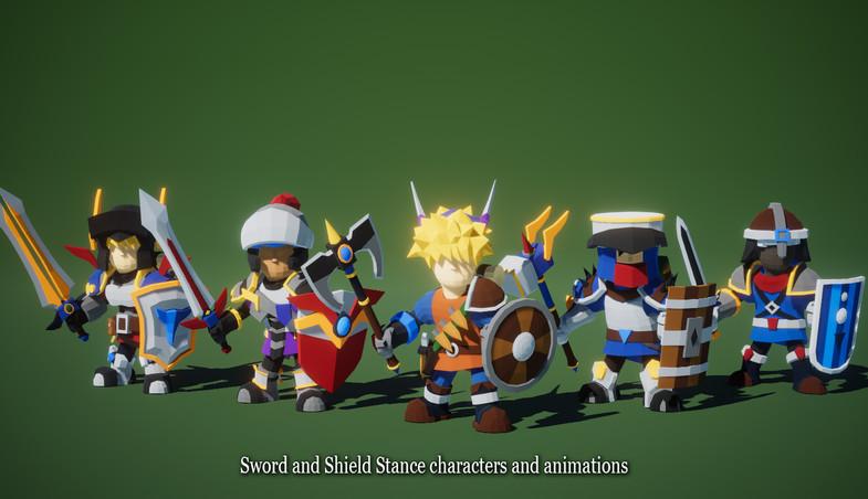 Modular RPG Heroes Polyart