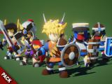Modular RPG Heroes Polyart - Unity Asset