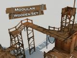 Modular Wooden Set - Unity Asset