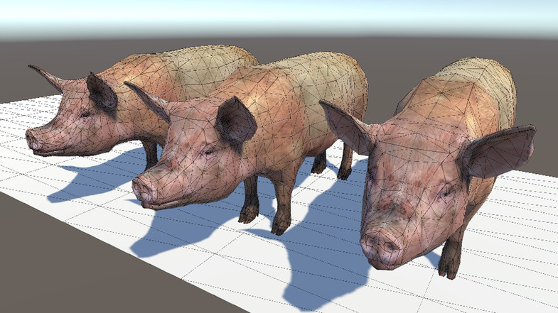 Pig lowpoly