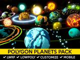Polygon Planets Pack - Unity Asset