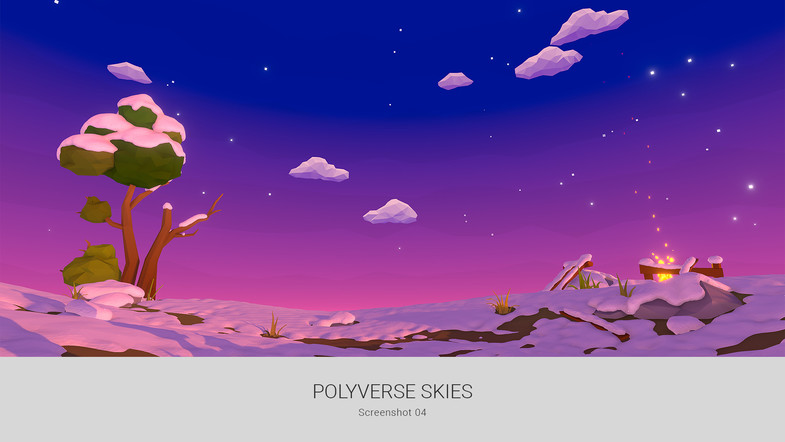 POLYVERSE SKIES - Low poly skybox shaders and textures