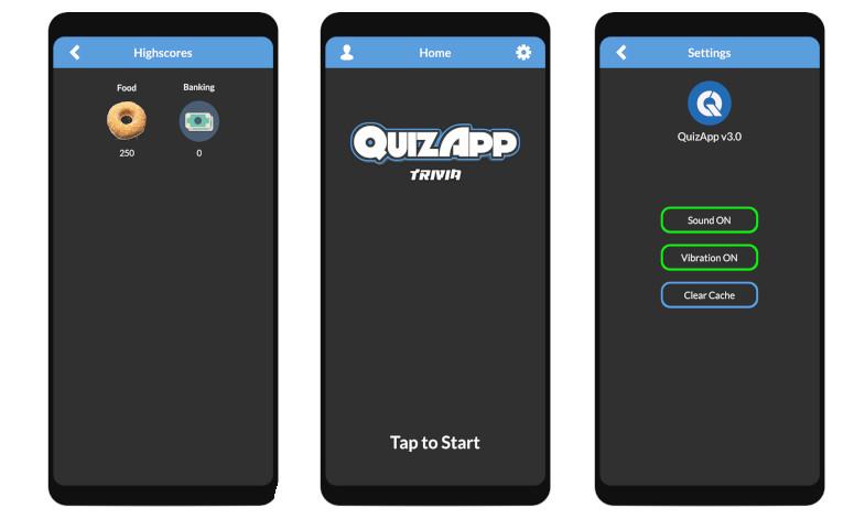 QuizApp Trivia Template 3.0