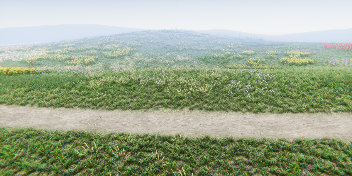 Realistic Grass Flowers Pack