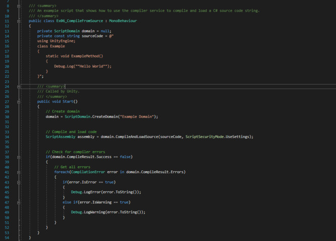 Roslyn C# - Runtime Compiler