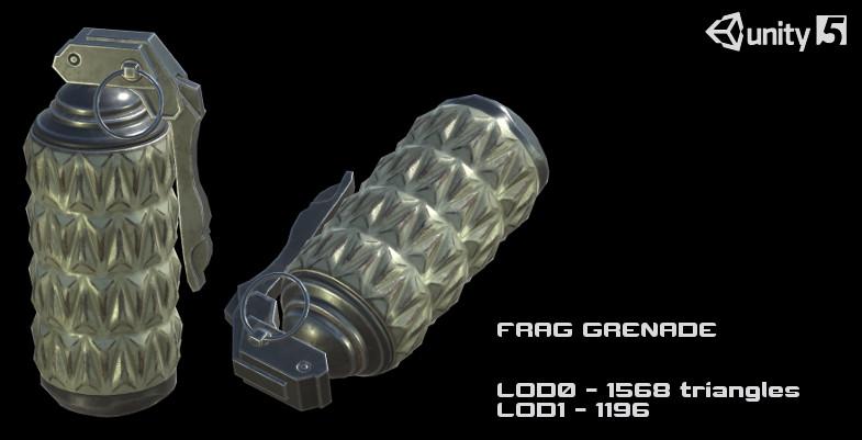 Sci-Fi Grenades PBR