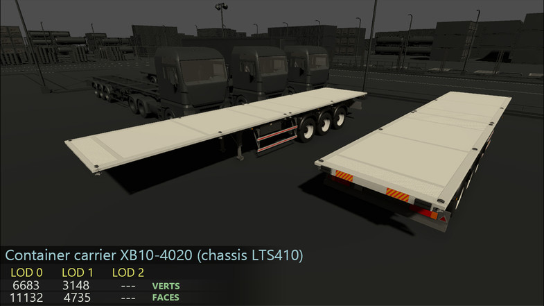 Truck and trailers