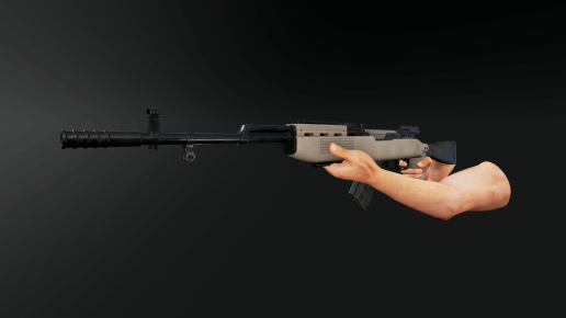 Animated SKS Rifle FPS Weapons Pack