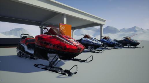 Drivable Vehicle : Snowmobile