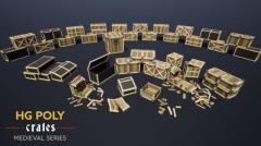 HG POLY - Crates - Unity Asset