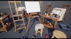 High Quality Painting Art Supplies - Unity Asset