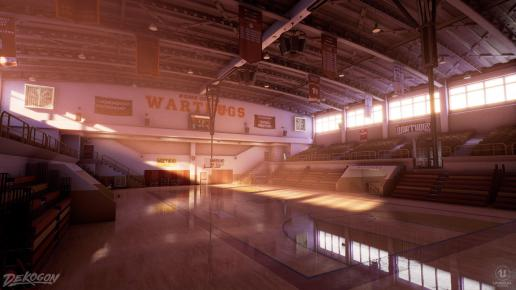 High School Basketball Gym - (Day/Night/Afternoon/Midnight Lighting)