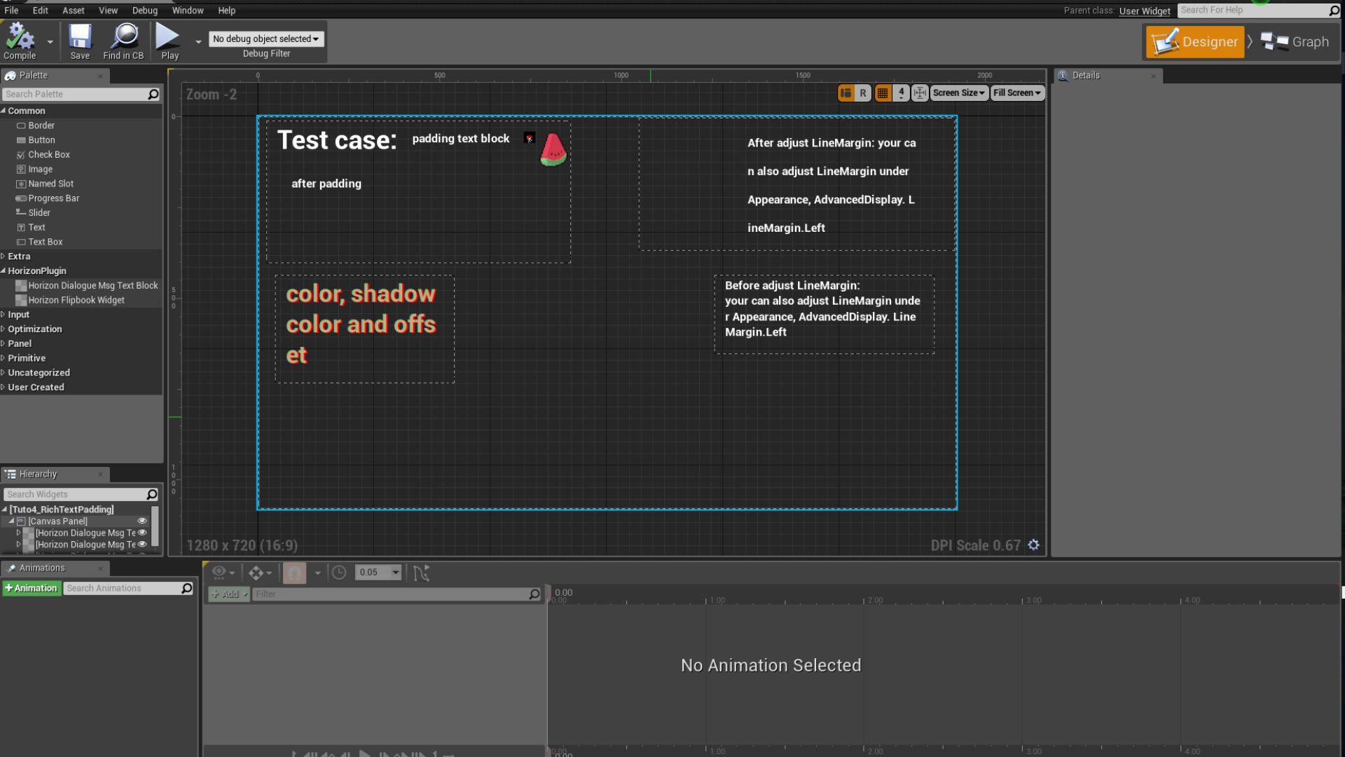 HorizonUI Plugin (DialogueMsgTextBlock and Flipbook)
