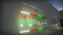 Interactive Industrial Lights and Switches Blueprints compatible  with  4.17 - Unity Asset