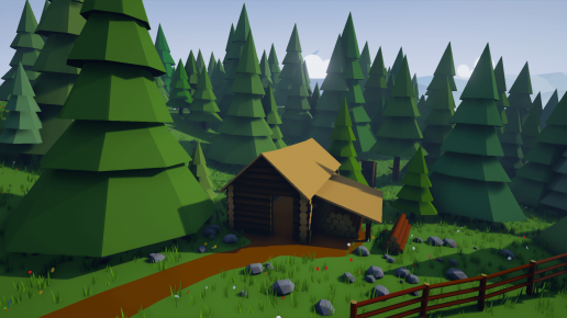 Stylized Low Poly Buildings