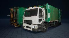 Truck, Garbage truck, Truck for anti-aircraft guns - Unity Asset