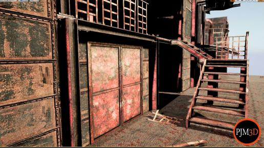UE4 Old Factory Modular Package Low-poly 3D model